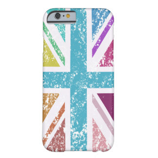 Funda Barely There Para iPhone 6 Bandera de unión apenada multicolora