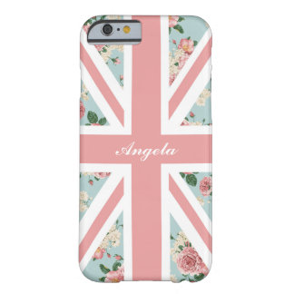 Funda Barely There Para iPhone 6 Bandera inglesa de Union Jack de los rosas