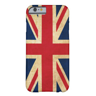 Funda Barely There Para iPhone 6 Bandera Union Jack de Reino Unido del Grunge del