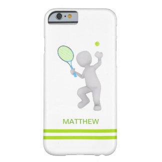 Funda Barely There Para iPhone 6 bola de la estafa de tenis del jugador de tenis 3D