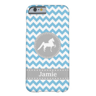 Funda Barely There Para iPhone 6 Caja azul adaptable del iPhone 6 de Saddlebred