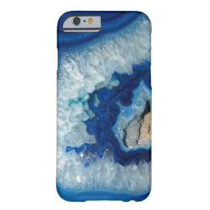 Funda Barely There Para iPhone 6 Caja azul del iPhone 6 de Geode de la ágata del