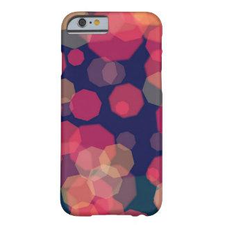 Funda Barely There Para iPhone 6 Caja púrpura y rosada abstracta burbujeante de