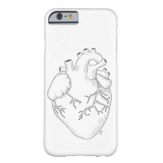 Funda Barely There Para iPhone 6 Caso anatómico del iPhone del corazón