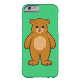 Funda Barely There Para iPhone 6 Caso feliz del iPhone 6 del oso del dibujo animado