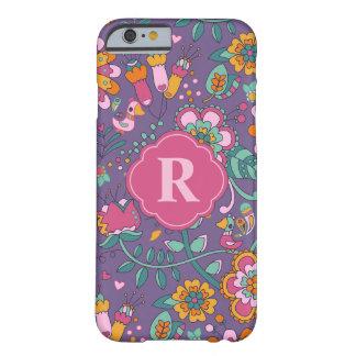 Funda Barely There Para iPhone 6 Caso lindo del pájaro y del teléfono del estampado