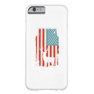 Funda Barely There Para iPhone 6 Cazador americano de los ciervos patriótico para