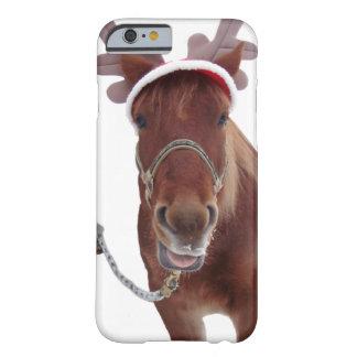 Funda Barely There Para iPhone 6 Ciervos del caballo - caballo del navidad -