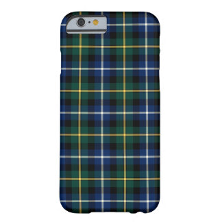 Funda Barely There Para iPhone 6 Clan MacNeil del tartán azul y verde de Barra