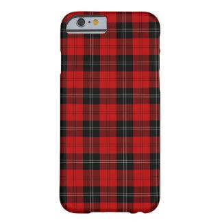 Funda Barely There Para iPhone 6 Clan tartán negro y rojo de Ramsay