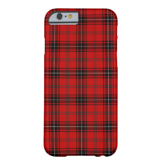 Funda Barely There Para iPhone 6 Clan tartán rojo y negro de Wemyss