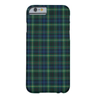 Funda Barely There Para iPhone 6 Clan tartán verde y azul de Stewart de la caza