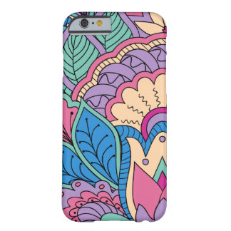 Funda Barely There Para iPhone 6 colorful blue zen pattern with lotus and mandala