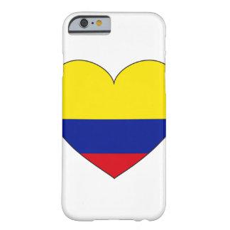 Funda Barely There Para iPhone 6 Corazón de la bandera de Colombia