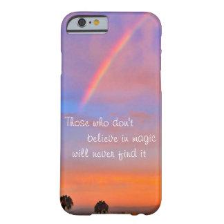 """Funda Barely There Para iPhone 6 """"Crea en"""" foto mágica de la salida del sol del"""