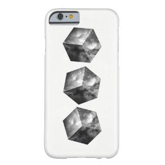 Funda Barely There Para iPhone 6 Cubos cósmicos del espacio - blancos y negros
