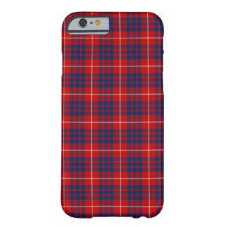 Funda Barely There Para iPhone 6 Del azul rojo de Hamilton del clan tartán