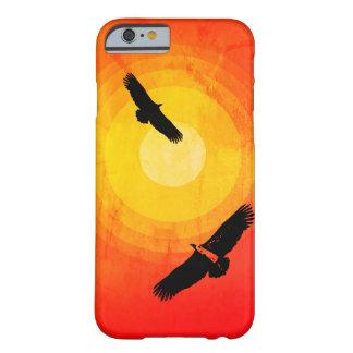 Funda Barely There Para iPhone 6 Desierto Sun de los buitres que circunda