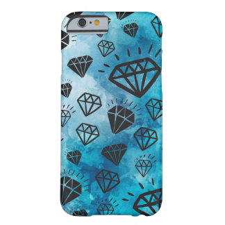 Funda Barely There Para iPhone 6 Diamonds colorful light blue sky case shine