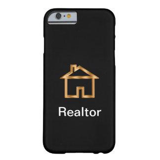 Funda Barely There Para iPhone 6 Diseño con clase de la casa del agente