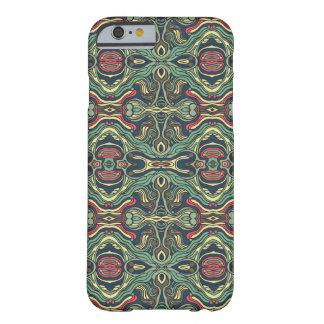 Funda Barely There Para iPhone 6 Diseño rizado dibujado mano colorida abstracta del
