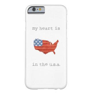 Funda Barely There Para iPhone 6 El   americana mi corazón está en el mapa de los