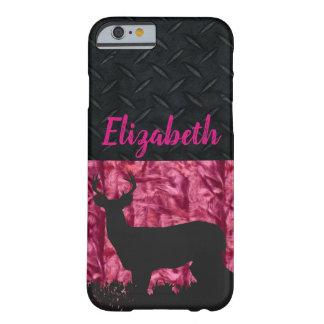 Funda Barely There Para iPhone 6 El caso conocido de Camo de las mujeres rosadas de