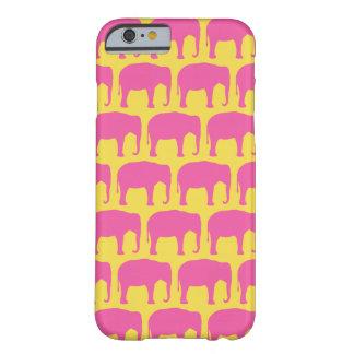 Funda Barely There Para iPhone 6 El elefante rosado siluetea el modelo