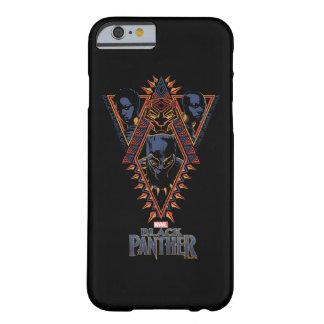 Funda Barely There Para iPhone 6 El panel tribal de los guerreros de la pantera