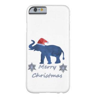 Funda Barely There Para iPhone 6 Elefante del navidad