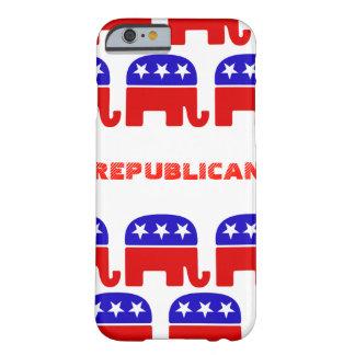Funda Barely There Para iPhone 6 Elefante del republicano del personalizar