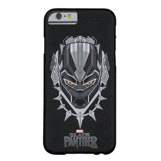 Funda Barely There Para iPhone 6 Emblema de la cabeza de la pantera negra de la