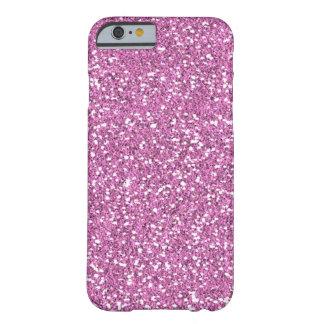 Funda Barely There Para iPhone 6 Falso caso rosado del iPhone 6 del brillo