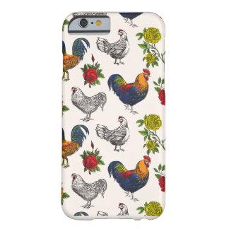 Funda Barely There Para iPhone 6 Gallinas de las capas, gallos y caja mullidos del