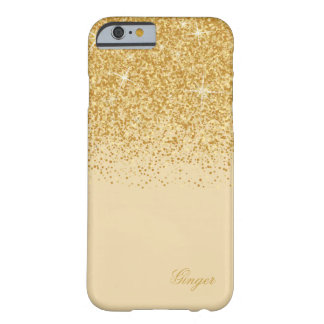 Funda Barely There Para iPhone 6 Glitz y purpurina de oro chispeantes