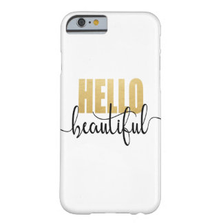 Funda Barely There Para iPhone 6 Hola negro hermoso y oro