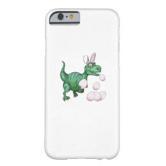 Funda Barely There Para iPhone 6 Huevo de Pascua divertido del conejito de T-Rex