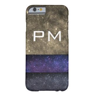 Funda Barely There Para iPhone 6 Iniciales de la galaxia del monograma