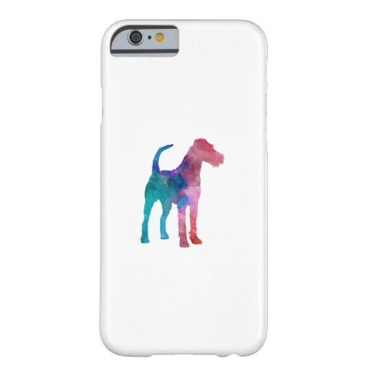 Funda Barely There Para iPhone 6 Irish Terrier in watercolor