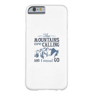 Funda Barely There Para iPhone 6 Las montañas están llamando