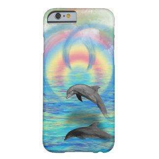 Funda Barely There Para iPhone 6 Levantamiento del delfín