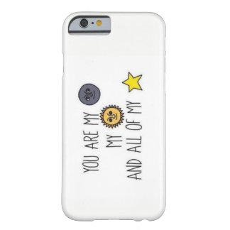 Funda Barely There Para iPhone 6 Luna y caso de Iphone 6/6s de la cita de las