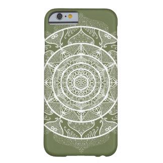 Funda Barely There Para iPhone 6 Mandala del musgo