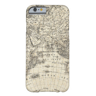 Funda Barely There Para iPhone 6 Mapa del vintage de Europa y de Asia
