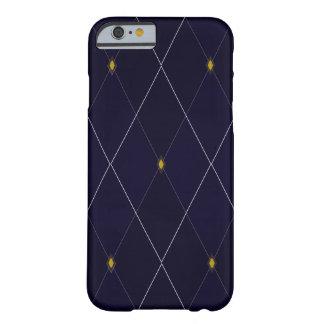 Funda Barely There Para iPhone 6 Marina de guerra brillante Argyle del diamante