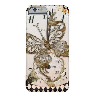 Funda Barely There Para iPhone 6 Mariposa de Steampunk redonda