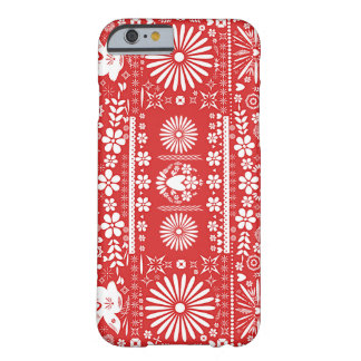 Funda Barely There Para iPhone 6 Mexicano Picado español de papel de Papel del