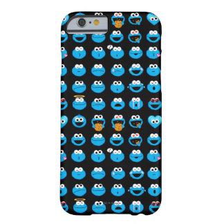 Funda Barely There Para iPhone 6 Modelo de Emoji del monstruo de la galleta