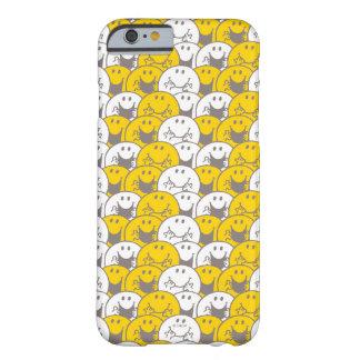 Funda Barely There Para iPhone 6 Modelo de las sonrisas de Sr. que destella Happy
