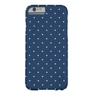 Funda Barely There Para iPhone 6 modelo de lunares blanco de los azules marinos